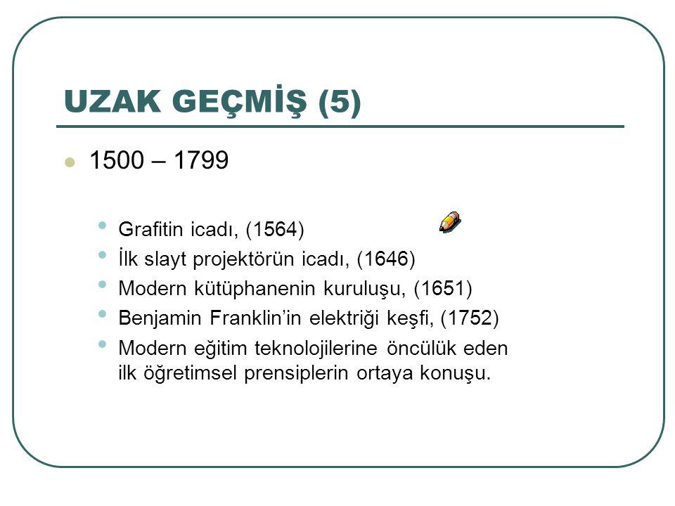 UZAK GEÇMİŞ (5) 1500 – 1799 Grafitin icadı, (1564)
