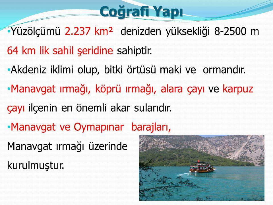 Coğrafi Yapı Yüzölçümü 2.237 km² denizden yüksekliği 8-2500 m