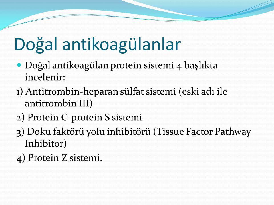Doğal antikoagülanlar