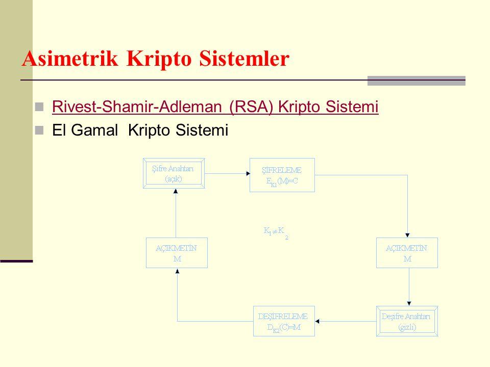 Asimetrik Kripto Sistemler