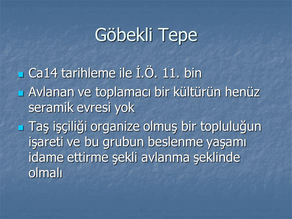 Göbekli Tepe Ca14 tarihleme ile İ.Ö. 11. bin