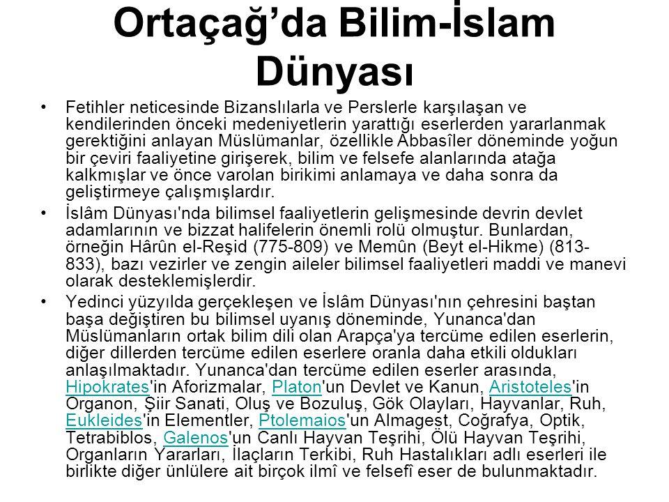 Ortaçağ'da Bilim-İslam Dünyası