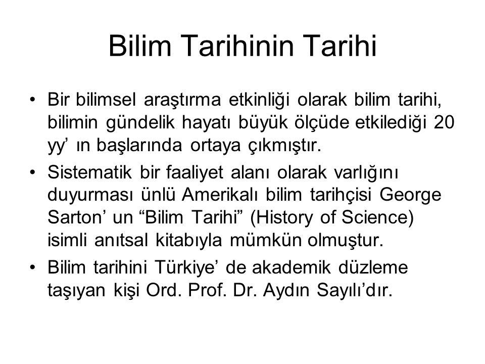 Bilim Tarihinin Tarihi