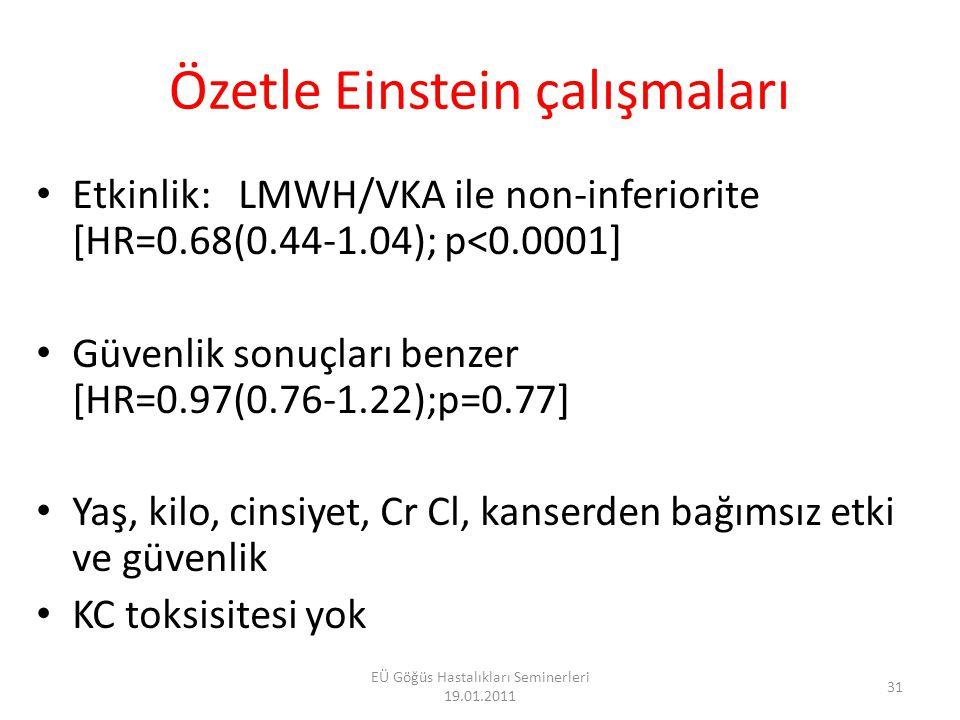 Özetle Einstein çalışmaları