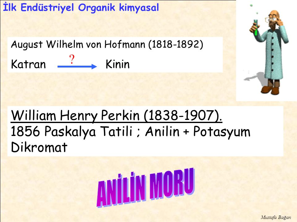 ANİLİN MORU William Henry Perkin ( ).