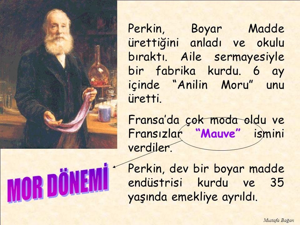 Perkin, Boyar Madde ürettiğini anladı ve okulu bıraktı