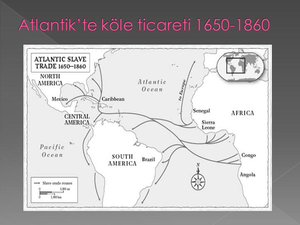 Atlantik'te köle ticareti 1650-1860