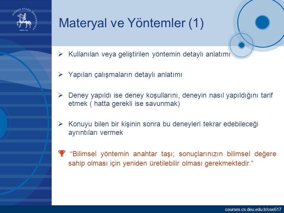Materyal ve Yöntemler (1)