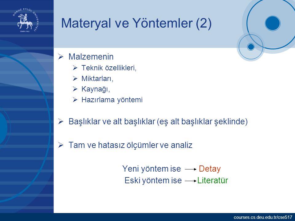 Materyal ve Yöntemler (2)