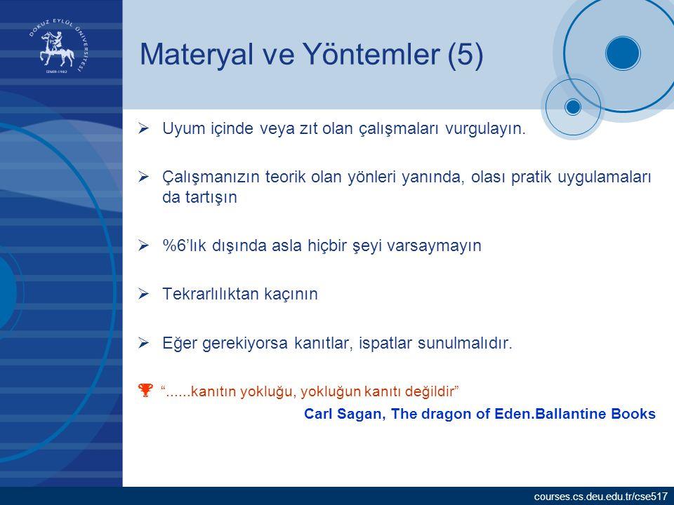Materyal ve Yöntemler (5)