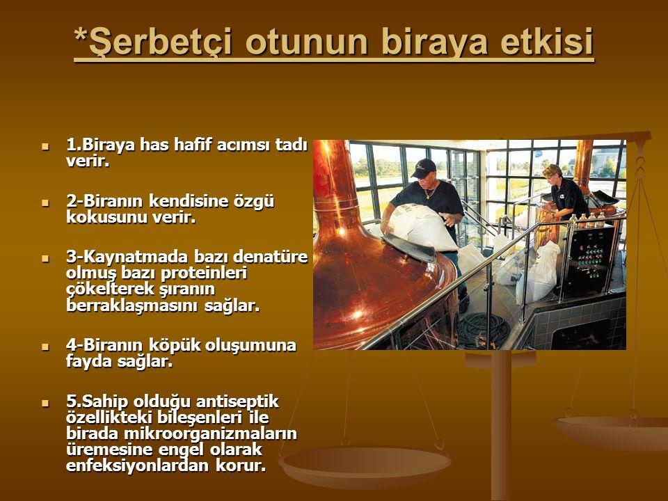 *Şerbetçi otunun biraya etkisi