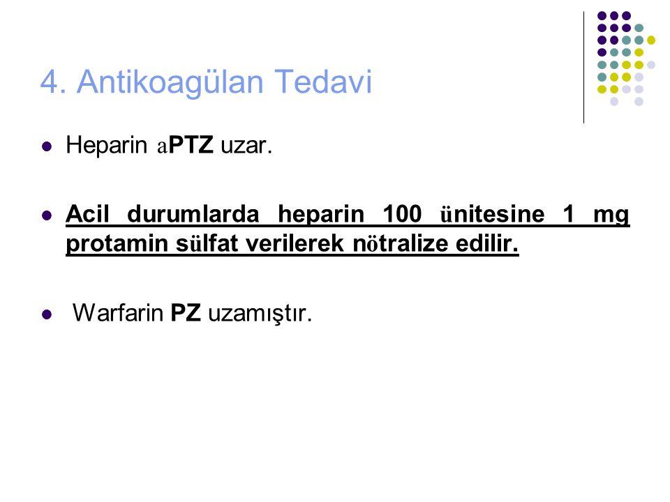 4. Antikoagülan Tedavi Heparin aPTZ uzar.