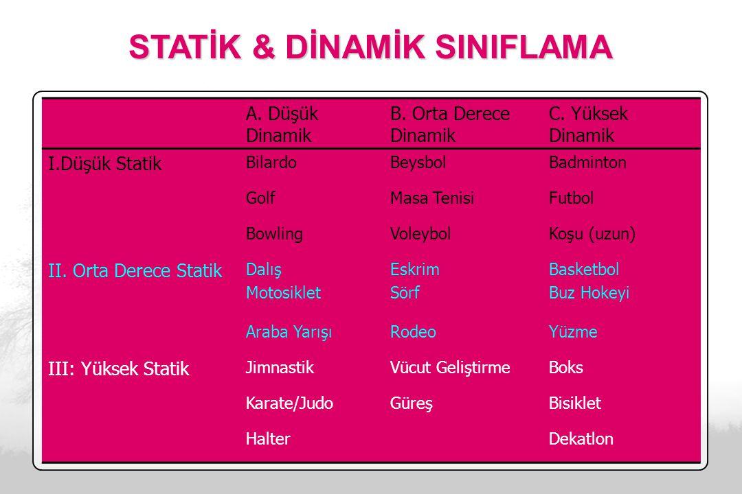 STATİK & DİNAMİK SINIFLAMA