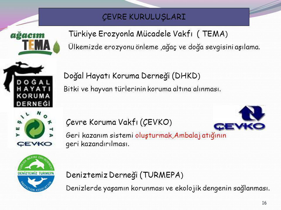 Türkiye Erozyonla Mücadele Vakfı ( TEMA)