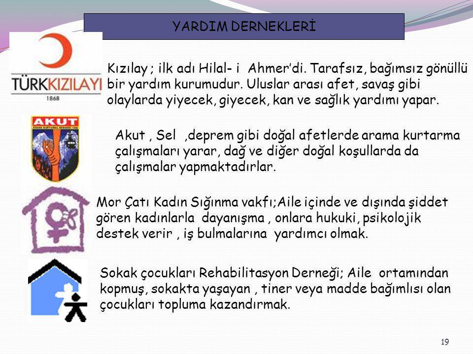 YARDIM DERNEKLERİ