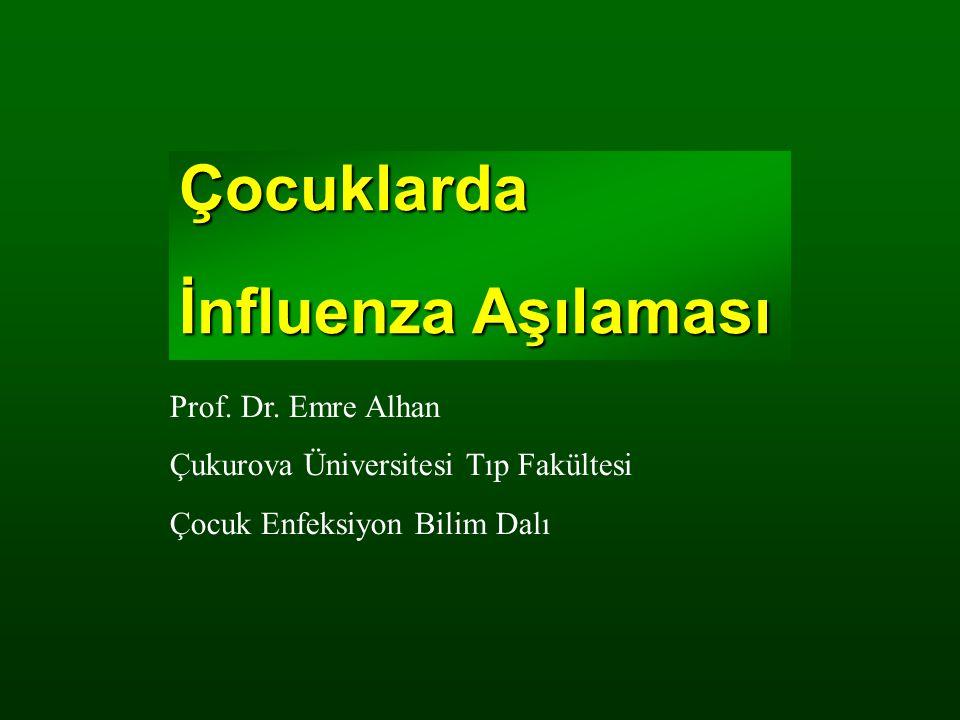 Çocuklarda İnfluenza Aşılaması Prof. Dr. Emre Alhan