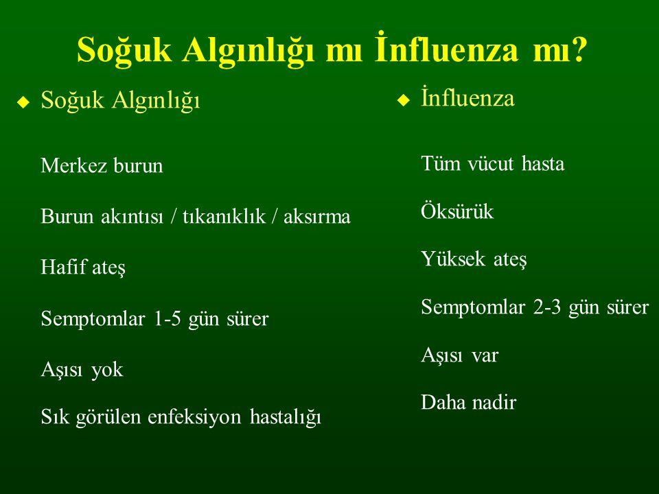 Soğuk Algınlığı mı İnfluenza mı