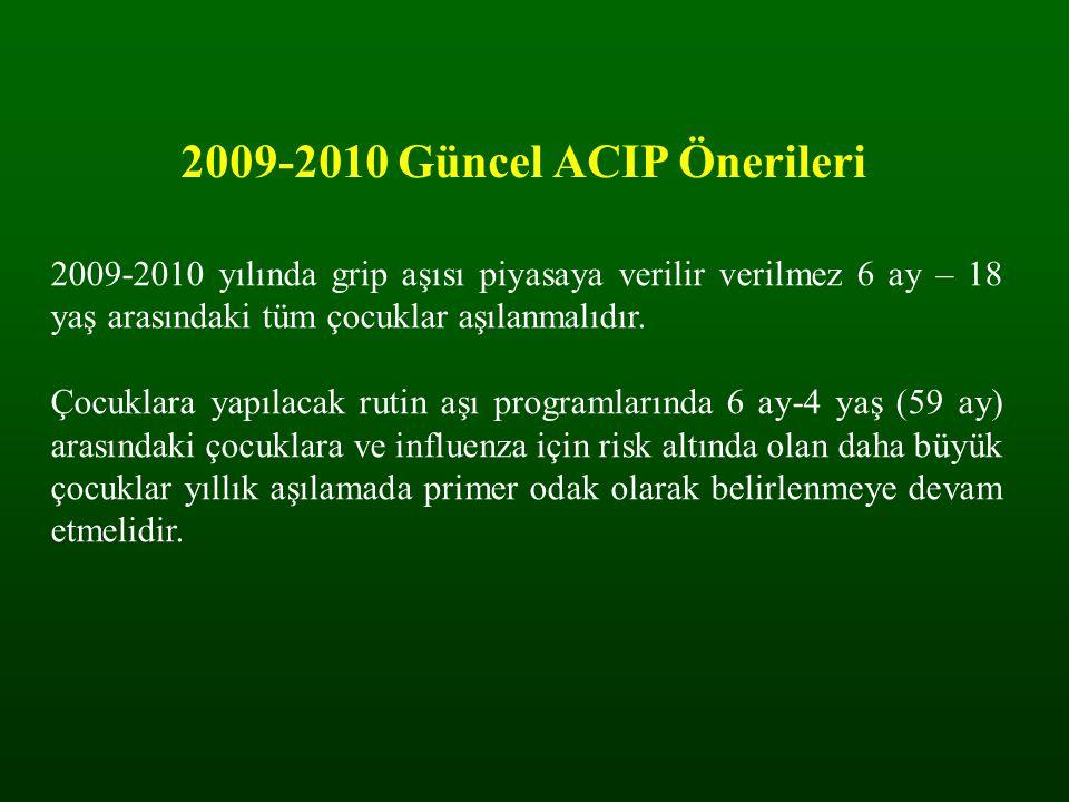 2009-2010 Güncel ACIP Önerileri