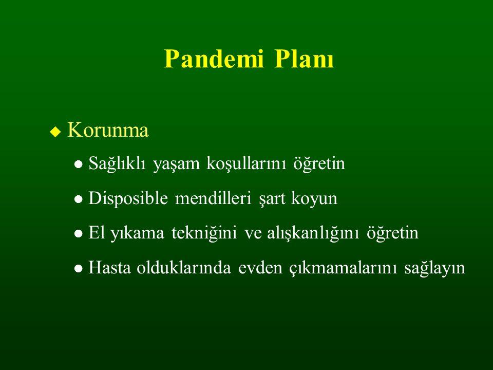 Pandemi Planı Korunma Sağlıklı yaşam koşullarını öğretin
