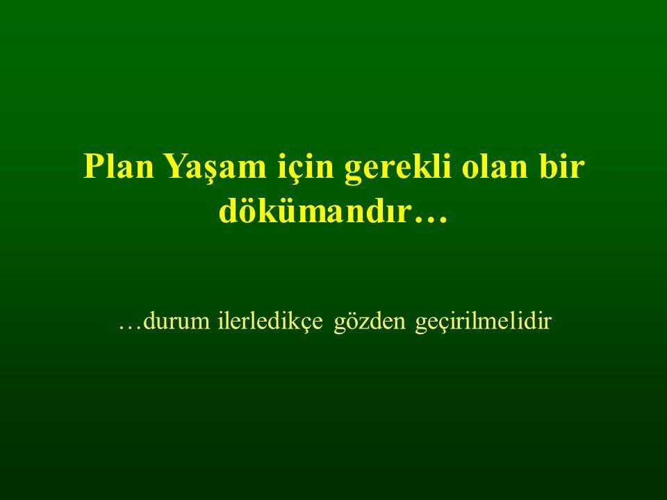 Plan Yaşam için gerekli olan bir dökümandır…