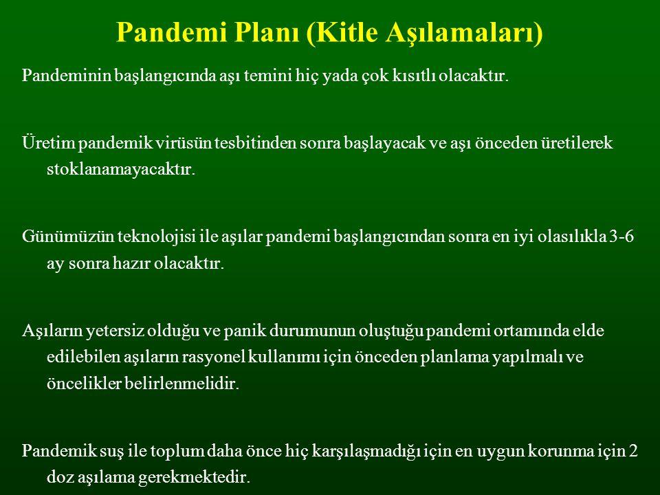 Pandemi Planı (Kitle Aşılamaları)