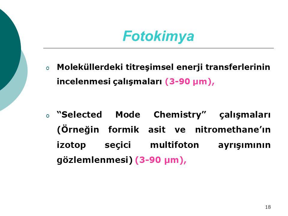 Fotokimya Moleküllerdeki titreşimsel enerji transferlerinin incelenmesi çalışmaları (3-90 µm),