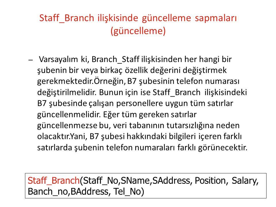 Staff_Branch ilişkisinde güncelleme sapmaları (güncelleme)