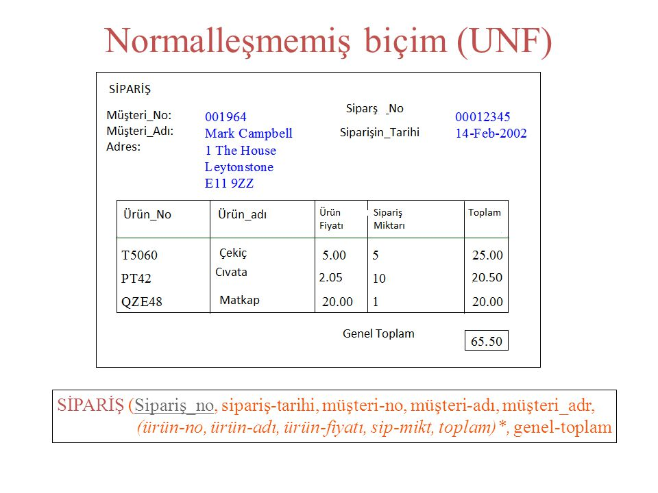 Normalleşmemiş biçim (UNF)