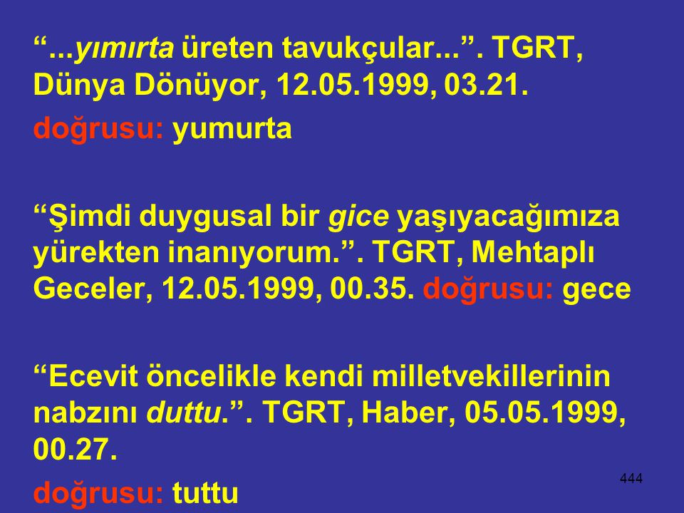 . yımırta üreten tavukçular. . TGRT, Dünya Dönüyor, 12. 05. 1999, 03