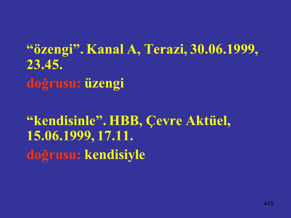 özengi . Kanal A, Terazi, 30.06.1999, 23.45.