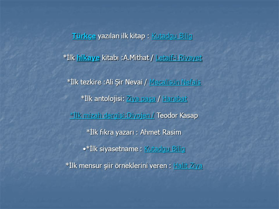 Türkçe yazılan ilk kitap : Kutadgu Bilig