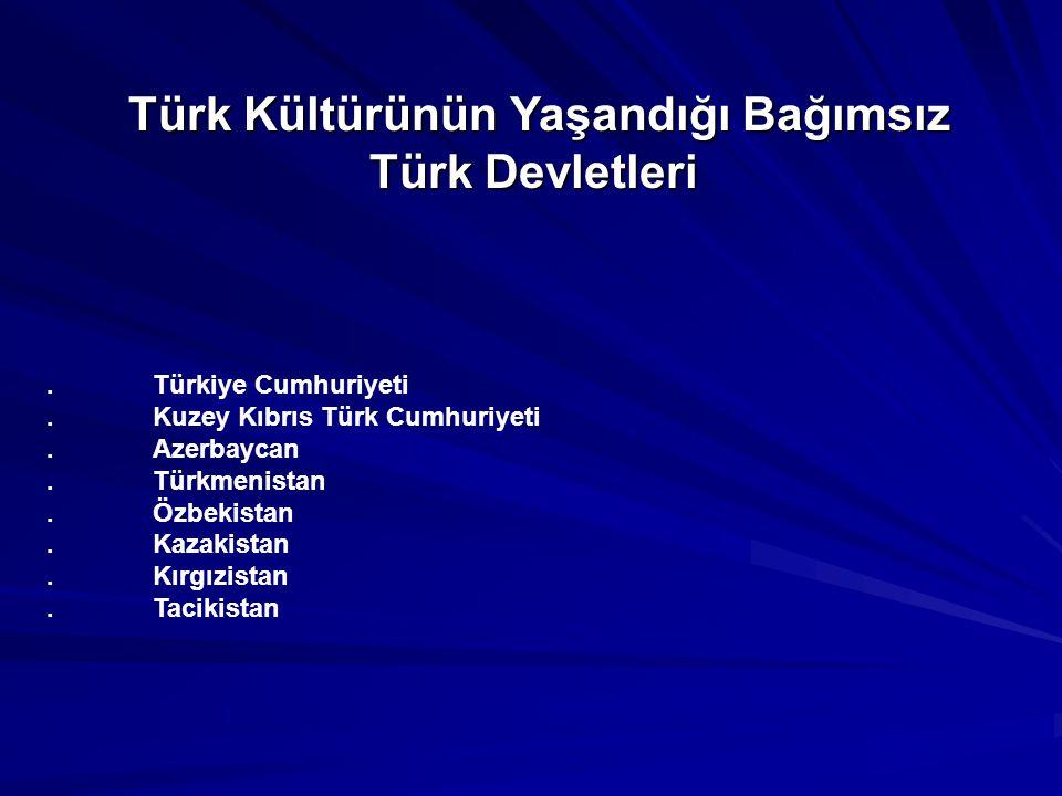Türk Kültürünün Yaşandığı Bağımsız Türk Devletleri