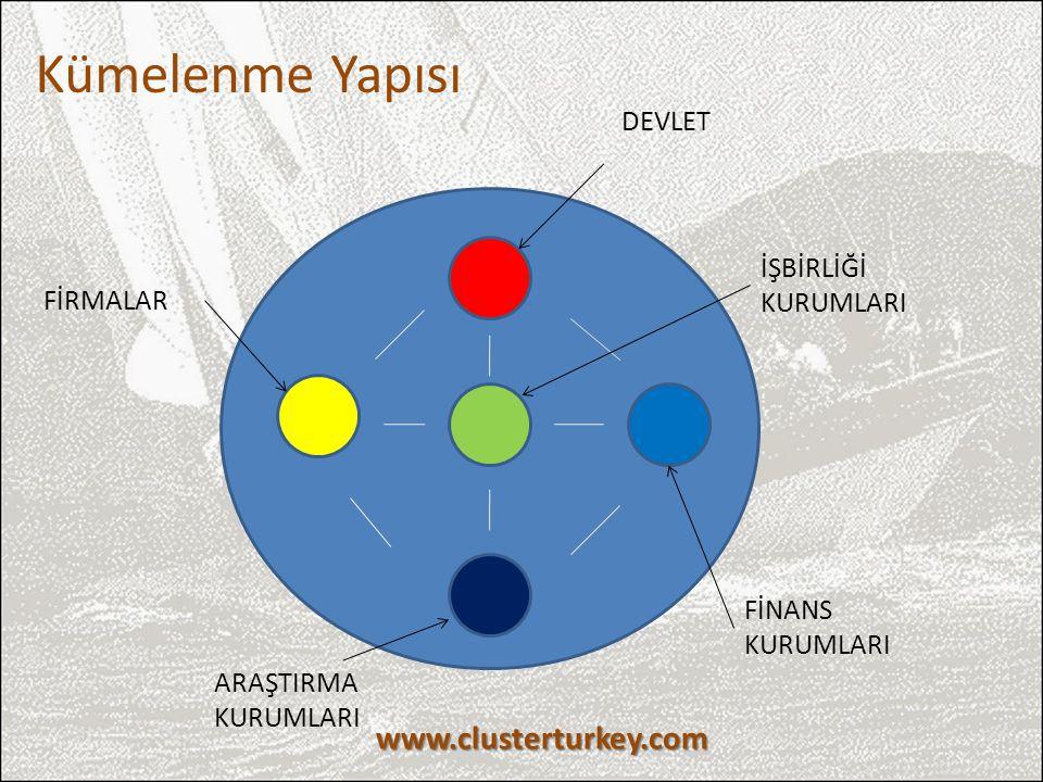 Kümelenme Yapısı www.clusterturkey.com DEVLET İŞBİRLİĞİ KURUMLARI