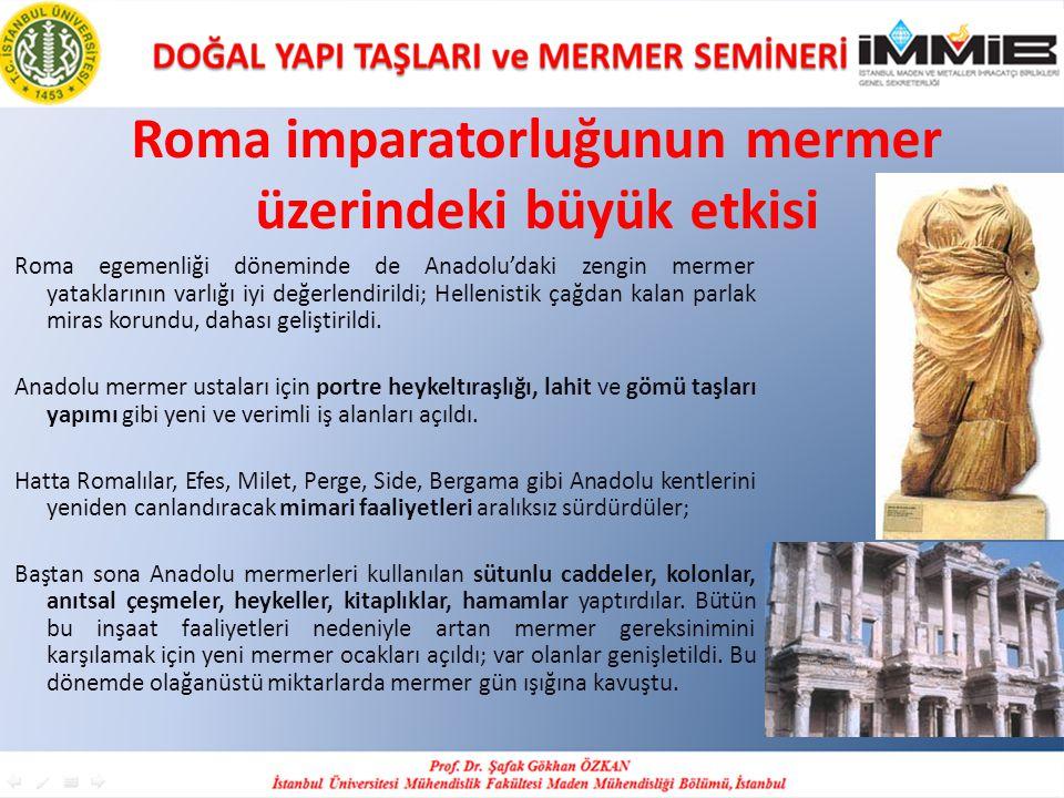 Roma imparatorluğunun mermer üzerindeki büyük etkisi
