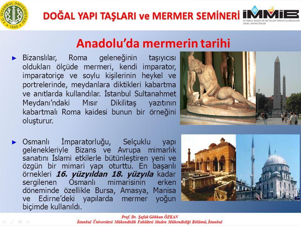 Anadolu'da mermerin tarihi