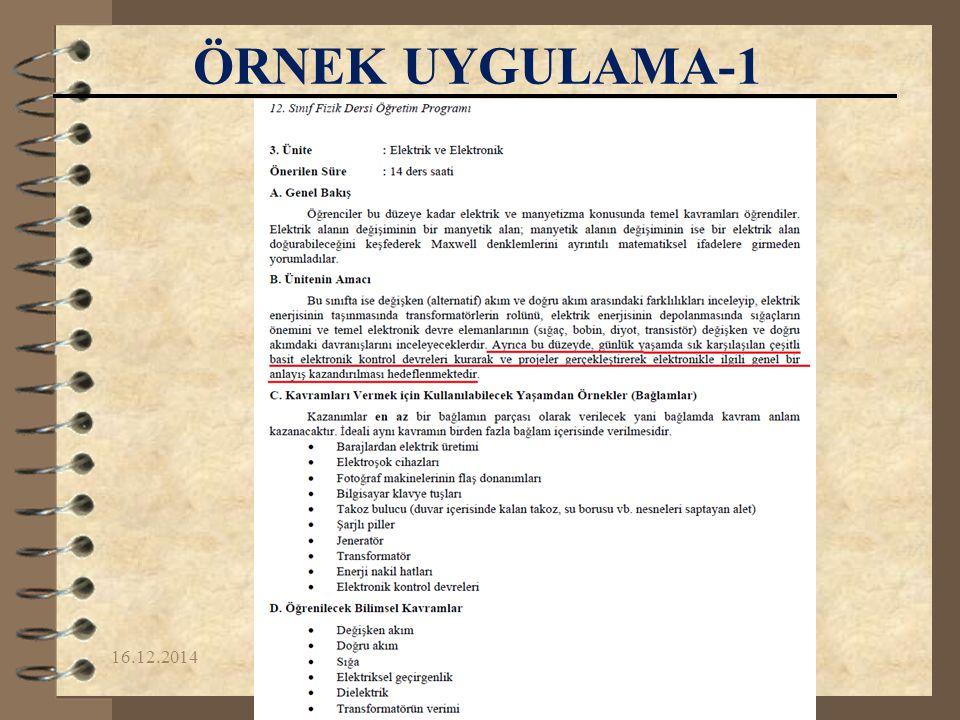 ÖRNEK UYGULAMA-1 07.04.2017 Yrd.Doç.Dr. Fikret KORUR