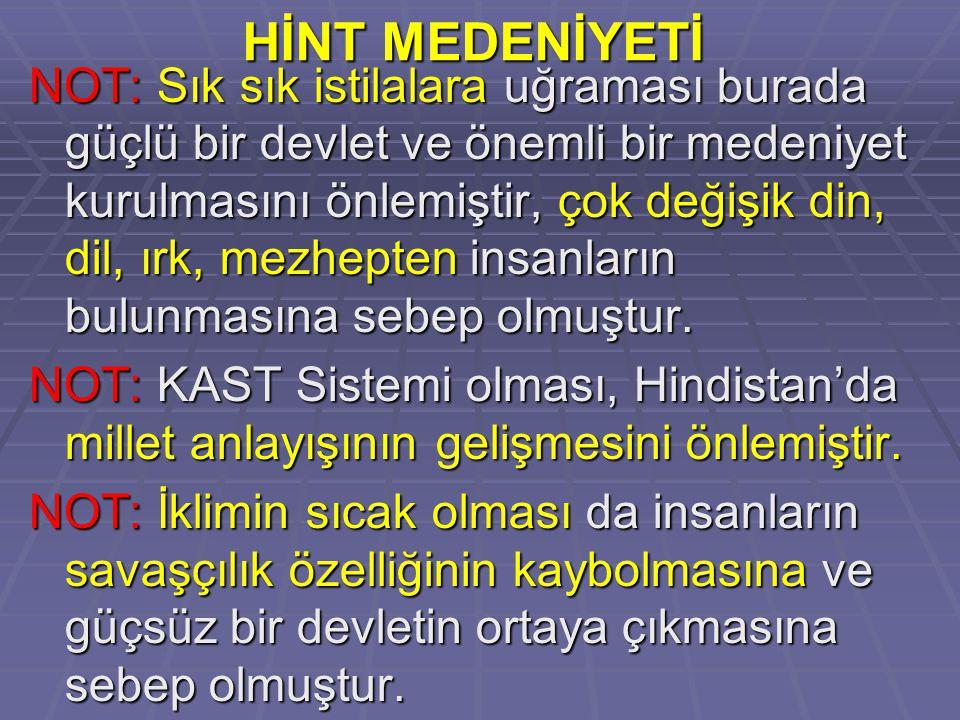 HİNT MEDENİYETİ