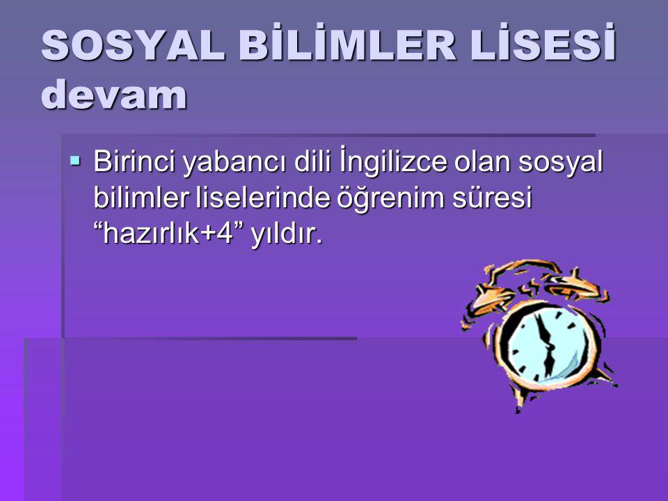 SOSYAL BİLİMLER LİSESİ devam