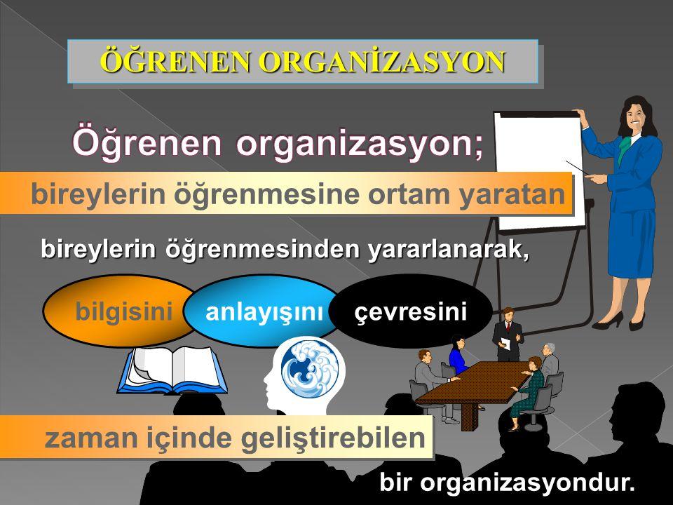 Öğrenen organizasyon;