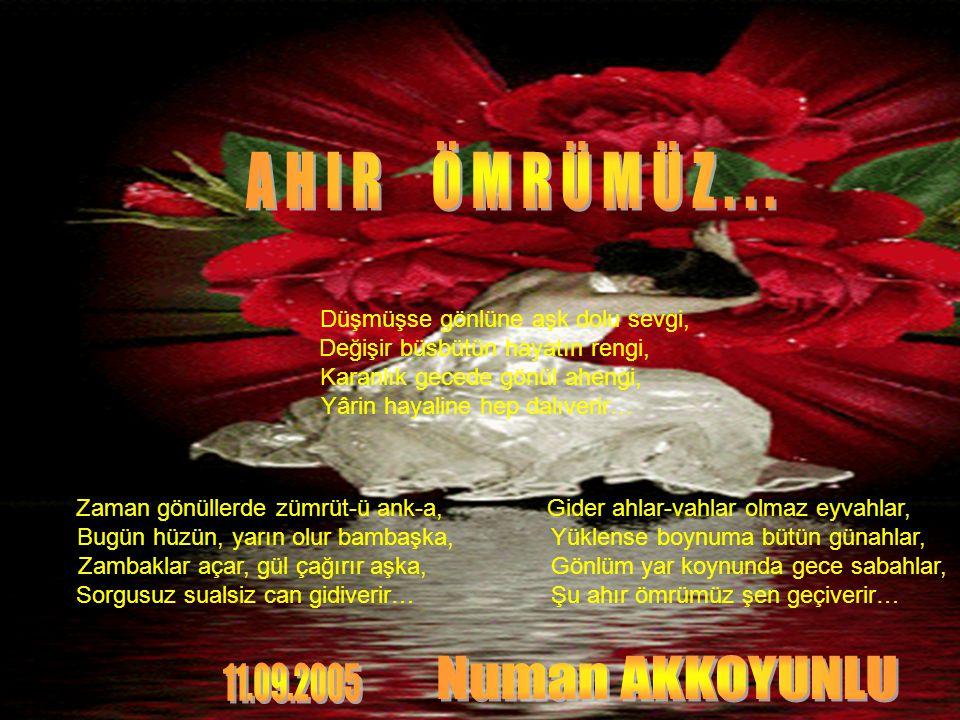 A H I R Ö M R Ü M Ü Z . . . Numan AKKOYUNLU 11.09.2005