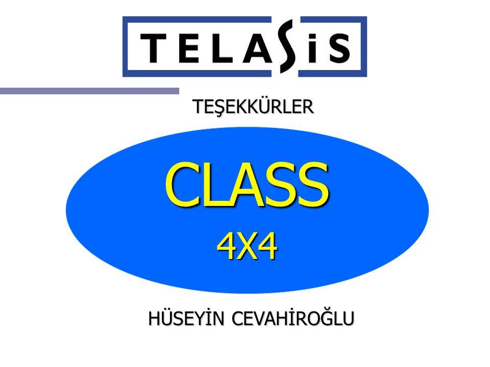 TEŞEKKÜRLER CLASS 4X4 HÜSEYİN CEVAHİROĞLU
