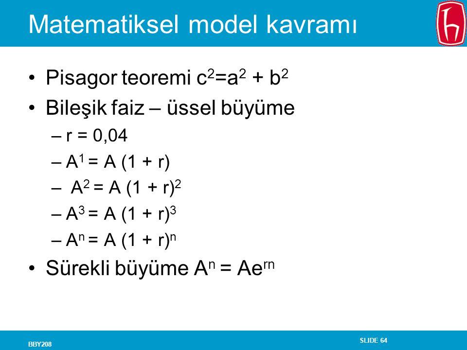 Matematiksel model kavramı