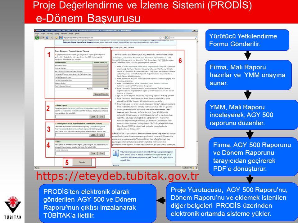 Proje Değerlendirme ve İzleme Sistemi (PRODİS) e-Dönem Başvurusu
