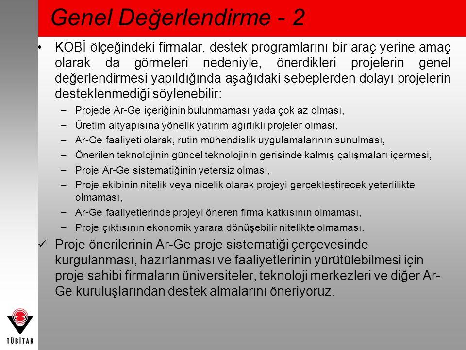 Genel Değerlendirme - 2