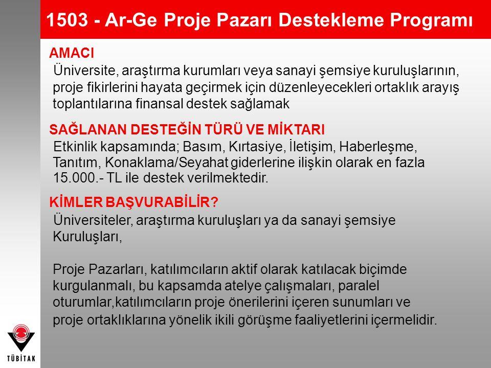 1503 - Ar-Ge Proje Pazarı Destekleme Programı