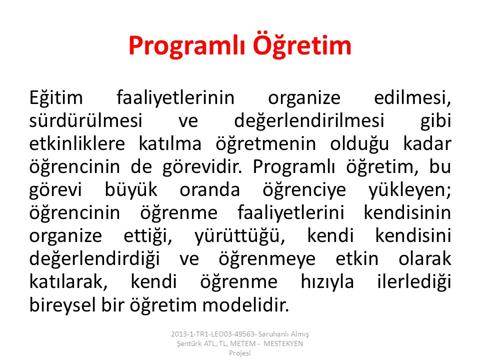 Programlı Öğretim