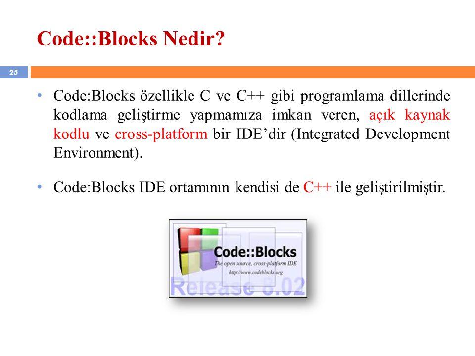 Code::Blocks Nedir