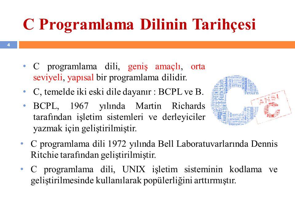 C Programlama Dilinin Tarihçesi