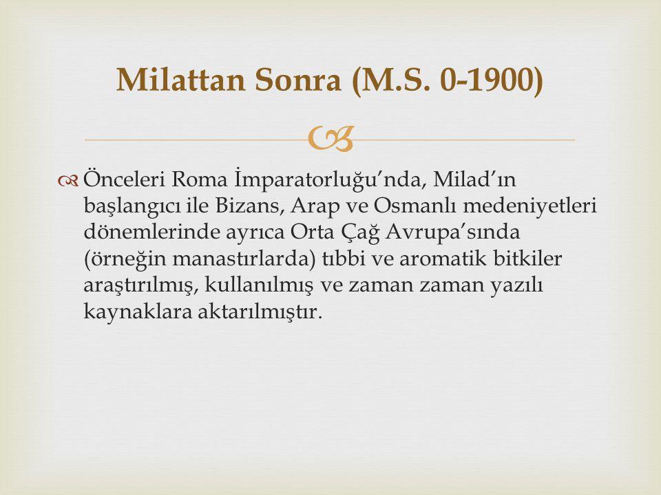 Milattan Sonra (M.S. 0-1900)