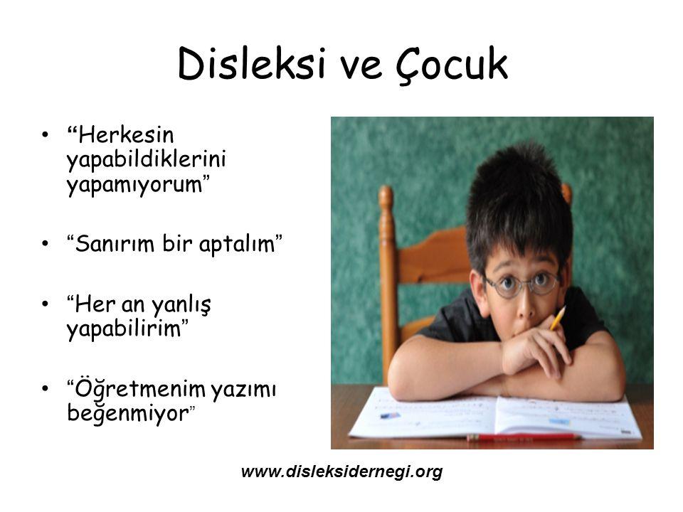 Disleksi ve Çocuk Herkesin yapabildiklerini yapamıyorum